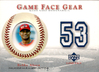 2003 Upper Deck Game Face Gear #BA Bobby Abreu Jersey Phillies!