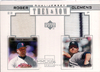 2001 Upper Deck Pros and Prospects Then and Now Dual Game Jersey #TNRC Roger Clemens Red Sox/Yankees!