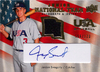 2008 Upper Deck USA Junior National Team Jersey Autograph Blue Jordan Swagerty /173