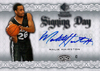 2008-09 SP Rookie Threads Signing Day Malik Hairston AU Spurs!