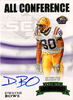 2007 Press Pass Legends All Conference Autograph Gold Dwayne Bowe /378 LSU