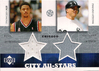 2002-03 UD SuperStars City All-Stars Dual Jersey Tyson Chandler/Magglio Ordonez Bulls/White Sox!