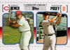 2010 Topps Legendary Lineage #LL74 Johnny Bench/Buster Posey Reds/Giants!