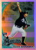 2010 Topps Update Chrome Rookie Refractors #CHR37 Alex Sanabia RC Marlins!
