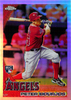 2010 Topps Update Chrome Rookie Refractors #CHR56 Peter Bourjos RC Angels!