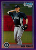 2010 Bowman Chrome Prospects Purple Refractors #BCP195 Kyle Seager /899 Mariners!