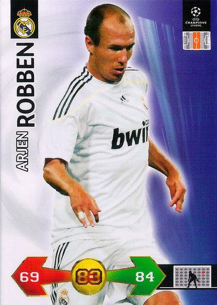 premium selection a71fc 362e0 2009-10 Panini Super Strikes Champions League Arjen Robben Real Madrid