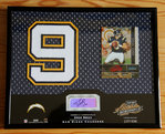 2002 Absolute Memorabilia Signing Bonus #17 Drew Brees AUTO Patch Framed /400 Chargers!