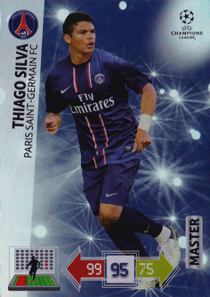 Panini Adrenalyn XL Ligue des Champions 12//13-341-Thiago Silva-MASTER