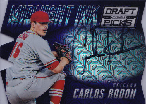 2014 Panini Prizm PDP Midnight Ink Autograph Carlos Rodon /50 White Sox!