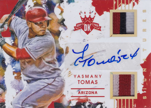 2016 Diamond Kings DK Materials Signatures Gold Yasmany Tomas !!! 5/5 !!! Diamondbacks!