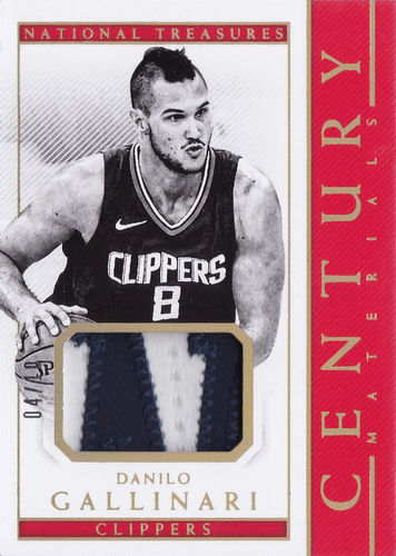 2017-18 Panini National Treasures Century Materials Patch Letter Danilo Gallinari /10 Clippers!