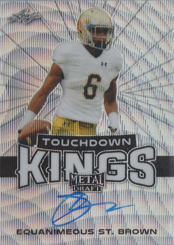 2018 Leaf Metal Draft Touchdown Kings Prismatic Wave Equanimeous St. Brown AUTO Rookie Packers!