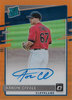 2020 Donruss Optic Rated Rookies Signatures Orange Aaron Civale AUTO /99 Indians!