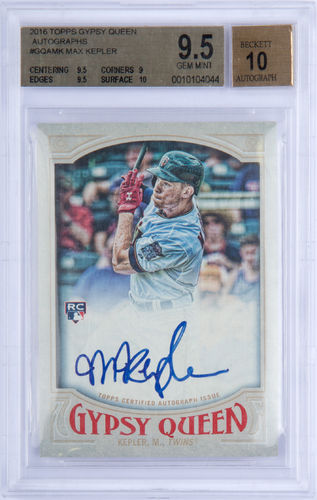 2016 Topps Gypsy Queen Autographs #GQAMK Max Kepler AUTO BGS 9.5/10 Rookie Twins!